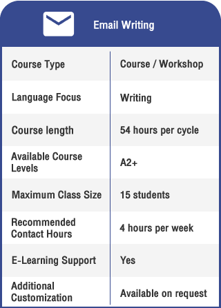 Anglokom Corporate Language Training Bangkok - English for Email Writing Info